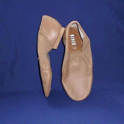 BLOCH JAZZ DANCE SPLIT SOLE LEATHER SHOES BOOT TAN 5.5 AD Not true to size