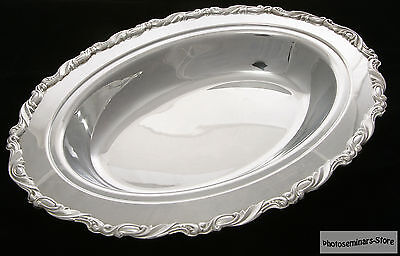 Oneida Silver Plated Vintage Oval Serving Tray, Good Condition (#704)