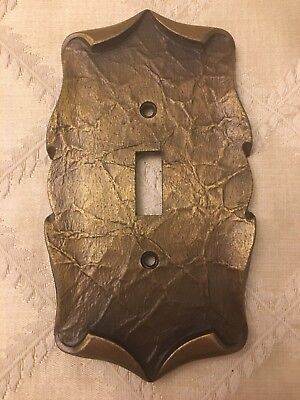 Vintage Amerock, Carriage House, Antique English Brass Light Switch Cover Plate