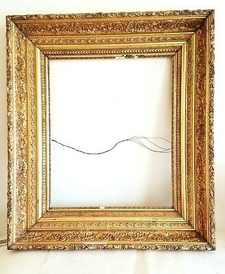 1870s LG HUDSON RIVER SCHOOL Ornate VICTORIAN COMPO Gilded 28x32 Painting Frame