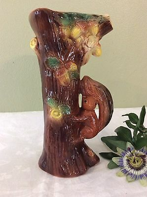 Vintage Eastgate Fauna Large Tree With Squirrel vase Vgc Number 963