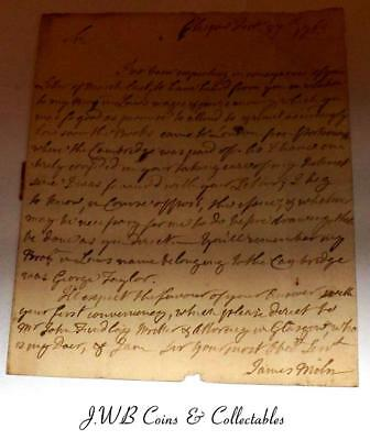 Antique Document Dated 1763 From James Miln Power Of Attorney Glasgow To London