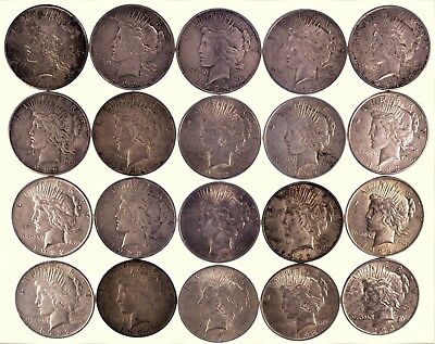 Lot of (20) Silver Peace Dollars (a253.2)