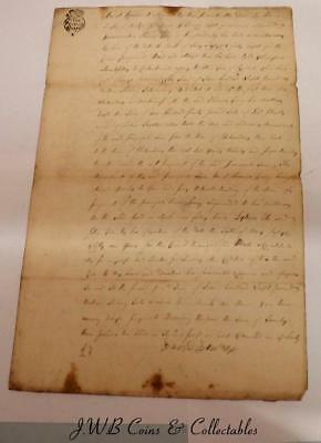 Antique Document Dated 1753 - Deed Or Will Of David Loudon To Donald McInvoy?