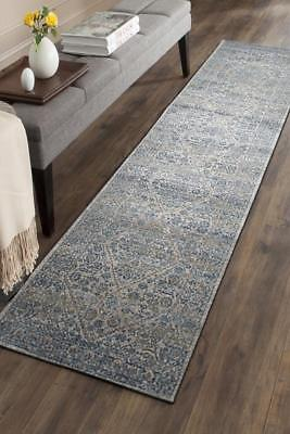 Hallway Runner Hall Runner Rug Modern Blue Grey 3 Metres Long Premium Edith 263