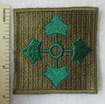 Early WW2 Vintage US ARMY 4th INFANTRY DIVISION PATCH Large Size Square ORIGINAL