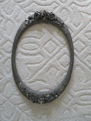 OMG Old Vintage French OVAL FRAME Incredibly Ornate THICK Barbola Gesso ROSES