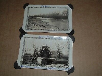 2 Vintage 1930's  Photo's Fredonia Kansas from old Antique Photograph Album