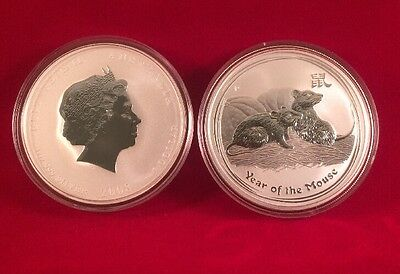 2008 Australia Lunar Series II One Ounce Silver Year Of The Mouse Coin