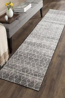 Hallway Runner Hall Runner Rug Modern Grey 5 Metres Long Premium Edith 257