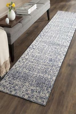 Hallway Runner Hall Runner Rug Modern Blue Cream 4 Metres Long Premium Edith 258