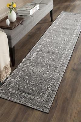 Hallway Runner Hall Runner Rug Modern Grey Black 4 Metres Long Premium Edith 261