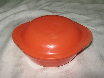 Vintage Retro Red Australian Agee Pyrex Lidded Small Oven Casserole Dish No 18