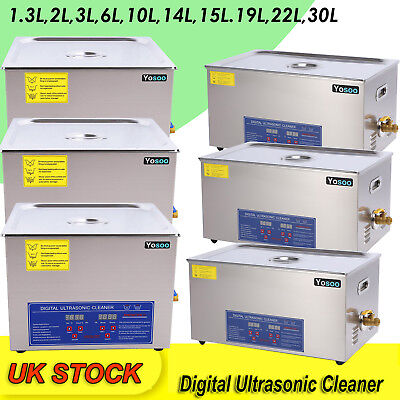 UK Ultrasonic Cleaner Heater Timer Cleaning Bath Watches Jwellery Tank Industry