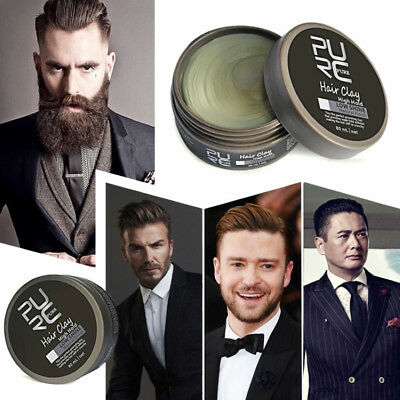 d894d51ceb7 Men Hair Oil Wax Hair Styling Gel Retro Modeling Bright Strong Hold Firm  Pomade