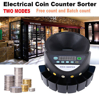 Coin Counter Sorter Led Display Digital Automatic Electronic Counter Machine
