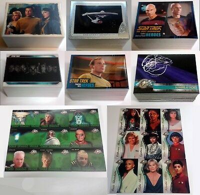 Star Trek Lot Complete Base Card Sets & Chase Sets Lot Rittenhouse Skybox