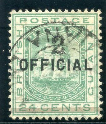 British Guiana 1881 QV 2 on 24c emerald-green (SG Type 24) with cert VFU. SG 158