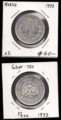 Mexico - One Peso 1933 - Silver - Cv $60