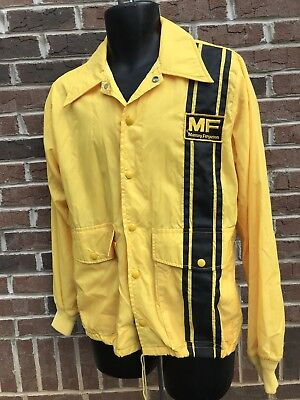 VTG HTF MASSEY FERGUSON windbreaker jacket sz MED Swingster Farm Tractor Barn FS