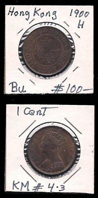 Hong Kong - One Cent 1900 - Victoria - Unc