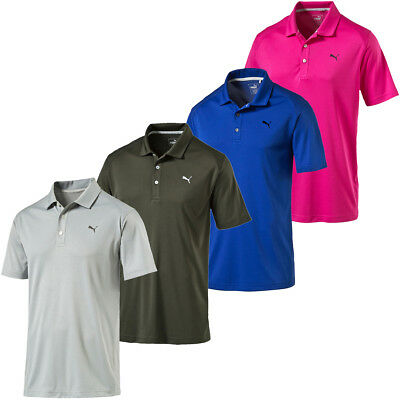 Puma Golf 2017 Mens Essential Pounce Polo Shirt DryCell Lightweight CoolMax Tech