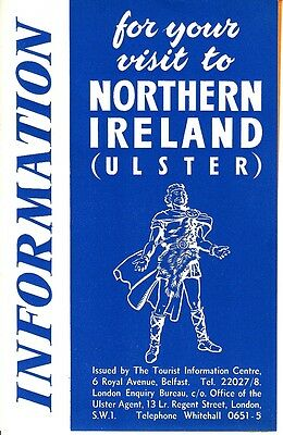 Information For Your Visit to Northern Ireland Ulster 1953 Booklet