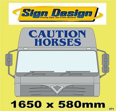 Large Caution Horses Fit Horsebox/transpoter Signs Graphics Decals Stickers 371