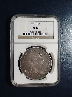 1802 Draped Bust Heraldic Eagle Silver Dollar NGC XF40 PRICED TO SELL QUICKLY!