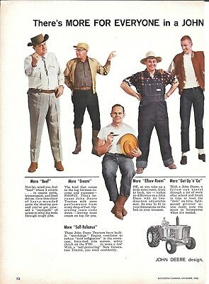 1962 John Deere New Generation Tractor Ad More For Everyone