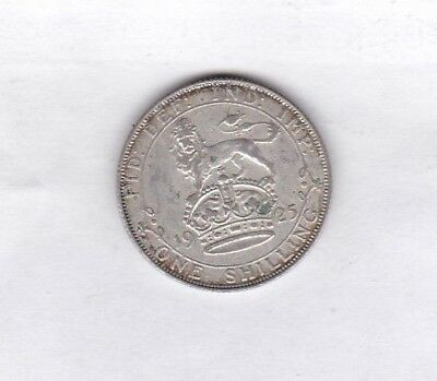 1925 George V 50% Silver Shilling In Very Fine Condition