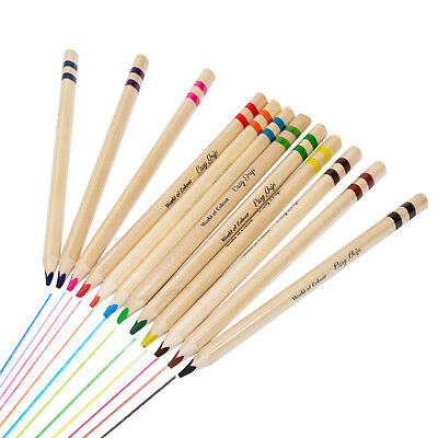 12 Pack Childrens Colouring Pencils Jumbo Triangle Easy Grip Washable Colour