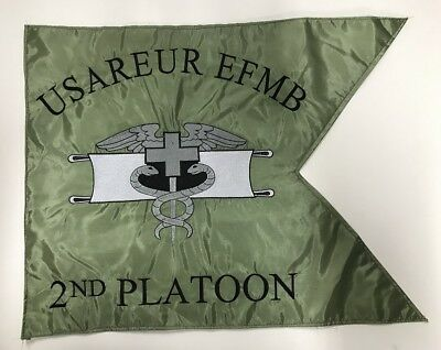 US Army Truppenabzeichen USAREUR EFMB MEDIC 2nd Platoon Guidon Flag Flagge