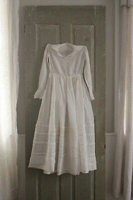 Antique French muslin gown child's dress 19th century