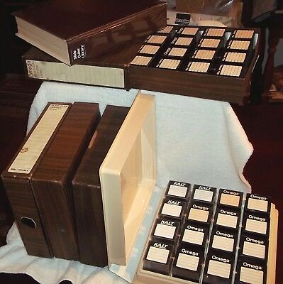 Bell & Howell Slide Cube Libraries (SIX) Stores & Shows 3,800 slides!