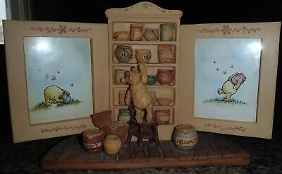 Disney Charpente Winnie the Pooh Ceramic Picture Frame - Reaching for Hunny Pot