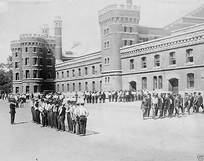 Canadian recruits drilling at armory in Toronto Canada World War I 8x10 Photo