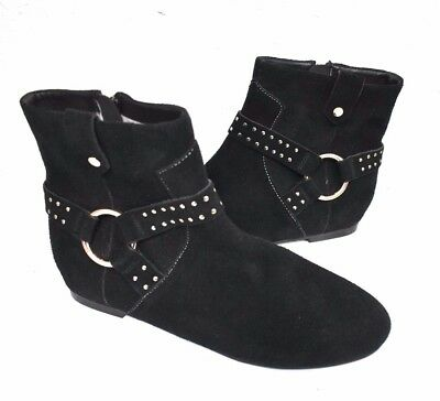fb4053293 New Ted Baker Sonoar Suede Black Women s Ankle Booties Boots Size 37 EU 6.5  US