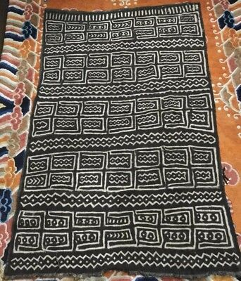 Vintage Bogolan Mud Cloth from Mali 1991-2.  57x35 inches.  Very good condition.