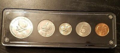 1968 Panama Five Coin Set Content Including Silver Coins. Proof Condition