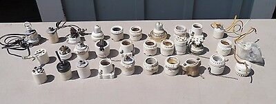 Nice Lot Of Thirty One Vintage ASSORTED Porcelain Lamp Sockets SOME PULL CHAIN