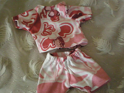 BABY ALIVE DOLL CLOTHES SHORT SET BITTY BABY butterfly rose