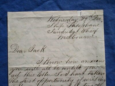 """1800's """"Life Onboard the fastest Ship Theophane,""""detailed handwritten letter!!!"""