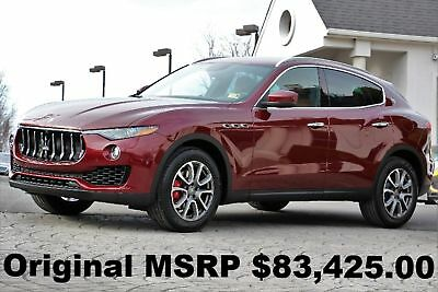 2017 Maserati Levante Base Sport Utility 4-Door 2017 Premium PKG Navigation Rear Camera Blind Spot Rosso Rubino Ruby Red AWD