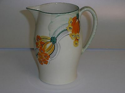 Grays Pottery Art Deco Lemonade Jug - Hand Painted With Unusual Flowers.