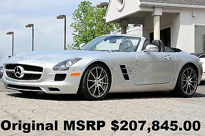2012 Mercedes-Benz SLS AMG SLS AMG Roadster 2012 Bang and Olufsen Sound System 4 Brand New Tires Perfect Convertible Silver
