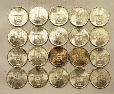 1979 Mexican Onza - Balance Scales - 1 oz Silver Coins .925 - Roll of 20 (Lot #1