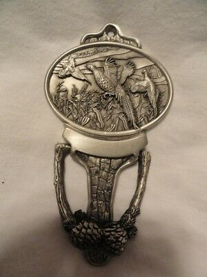 Pewter Door Knocker with Three Pheasants New in Box LAST ONE!
