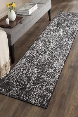 Hallway Runner Hall Runner Rug Modern Black 4 Metres Long Premium Edith 253
