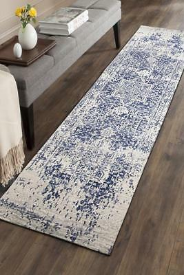 Hallway Runner Hall Runner Rug Modern Blue 3 Metres Long Premium Edith 253